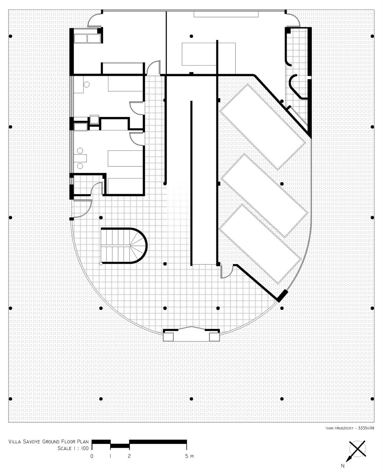 Villa Savoye Le Corbusier Floor Plan Villa Savoye Floor Pla...
