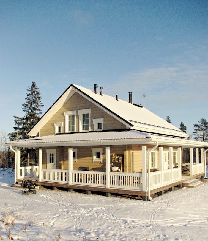 kontio laaksola, scandinavian log house, nordic log house