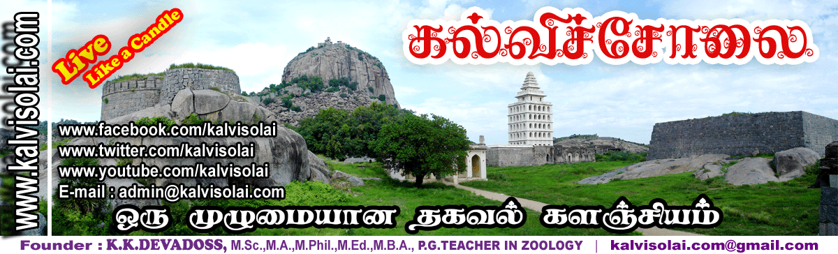 Kalvisolai - No 1 Educational Website in Tamil Nadu