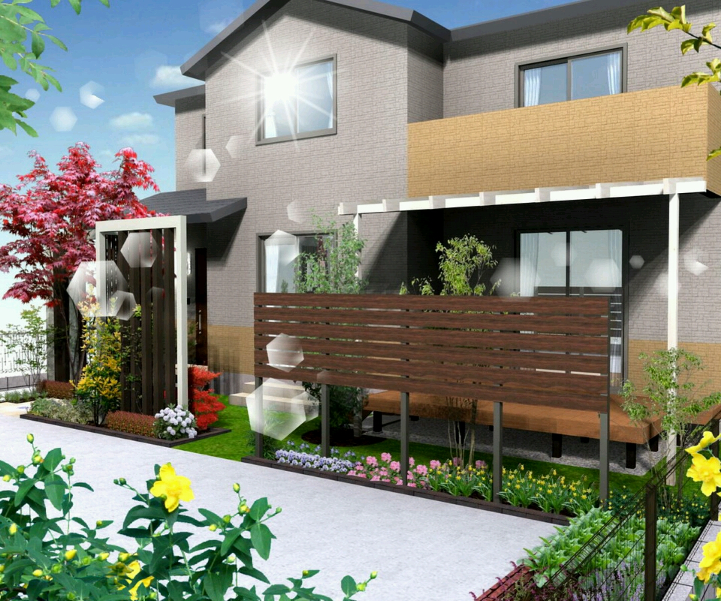 Modern luxury homes beautiful garden designs ideas Modern Home