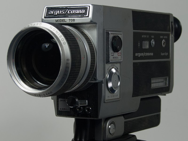 The first Super-8 film motion picture camera I learned on - Argus?Cosina.