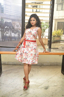 Actress Vishnu Priya Latest Pictures in Short Dress at Nenu Naa Friends Movie Press Meet  50.JPG