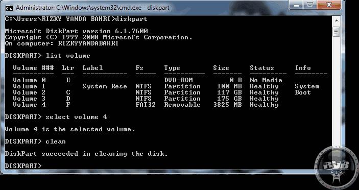 Cara Format Flashdisk Melalui Command Prompt (CMD)