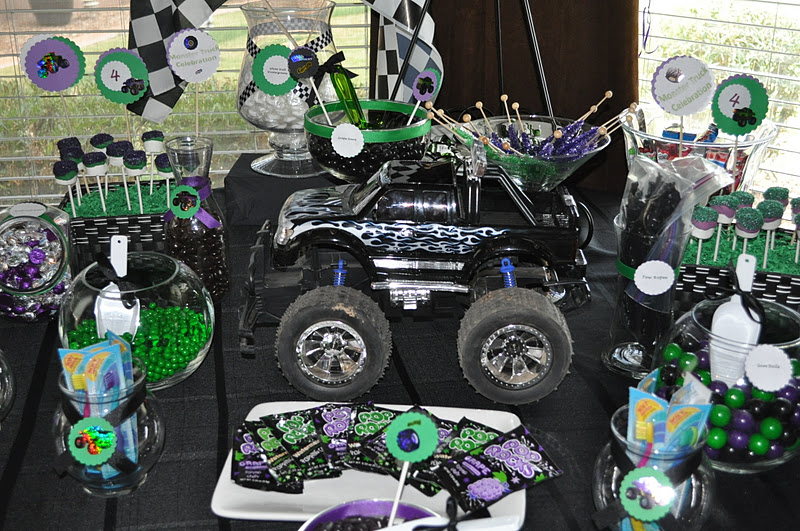 Monster Truck Birthday Style With Nancy