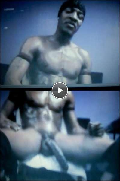 black gay striptease video