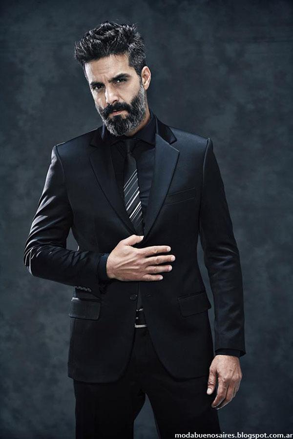 Moda Hombre 2015 otoño invierno Mancini. Trajes, camisas de vestir y corbatas moda hombre invierno 2015 Mancini.