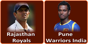 राजस्थान रौयल्स बनाम पुणे वॉरियर्स इंडिया 5 मई 2013 को है।