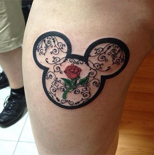 tatuaje disney de la bella y la bestia tu pr ximo tatuaje. Black Bedroom Furniture Sets. Home Design Ideas