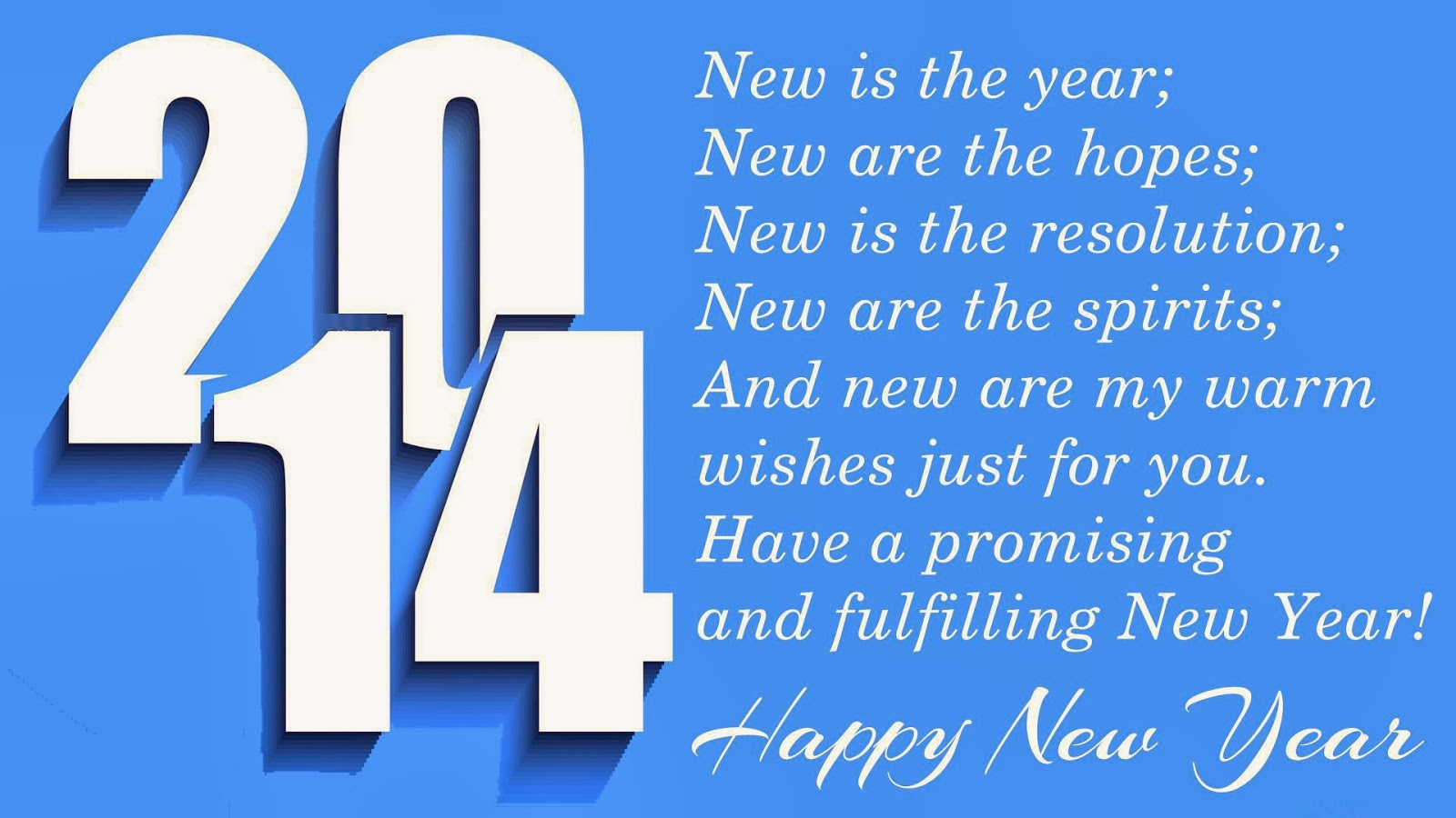 New Year 2014 Greetings With Special Message For Loved Ones New