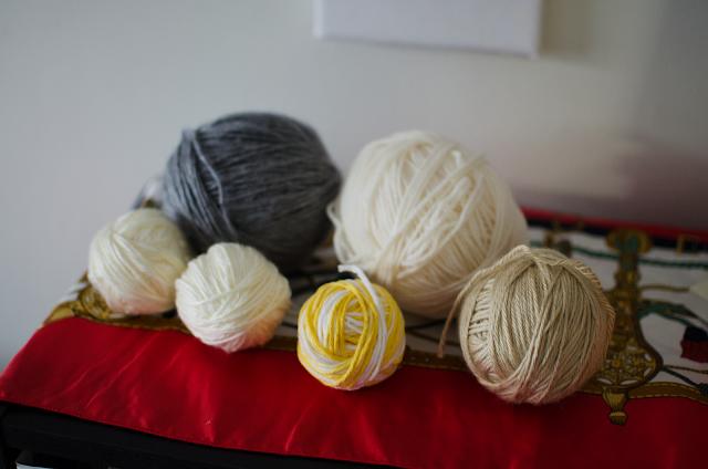 strung yarn