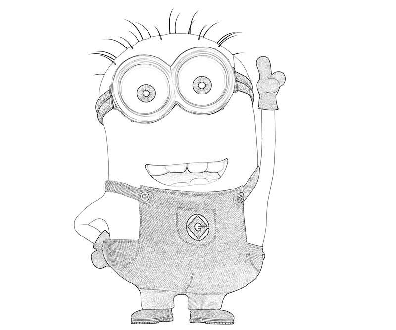 #3 Despicable Me 2 Coloring Page