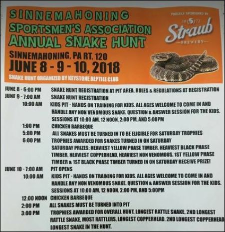 6-8/9/10 Sinnemahoning Snake Hunt