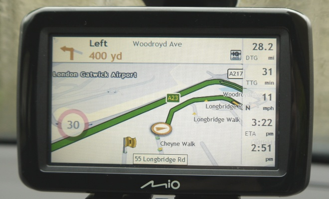 Mio Spirit 485 daytime navigation screen