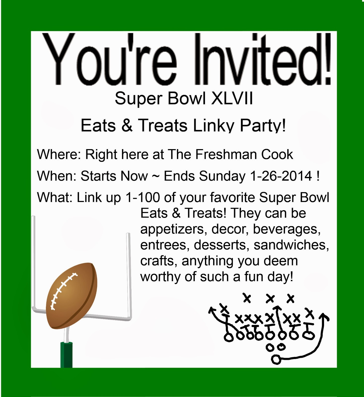 The Freshman Cook Super Bowl Linky Party