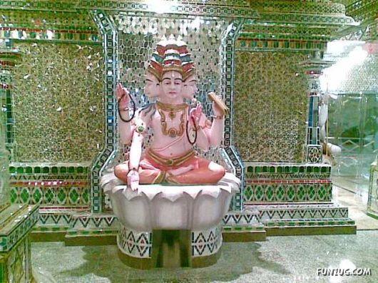 glass temple in Malaysia