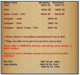 Harga Tiket Wonderland Melaka
