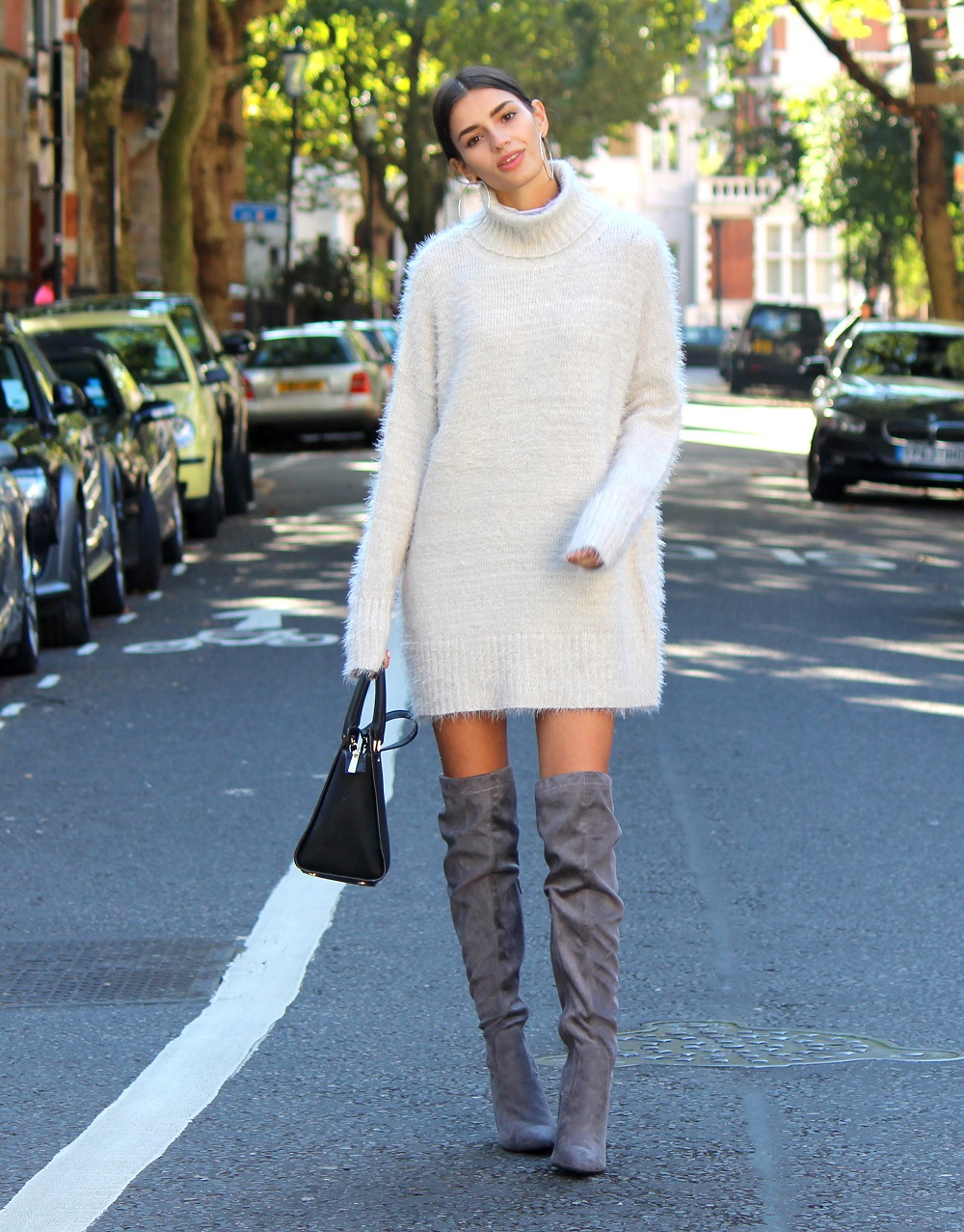 Cosy Knitwear and Knee High Boots | Peexo