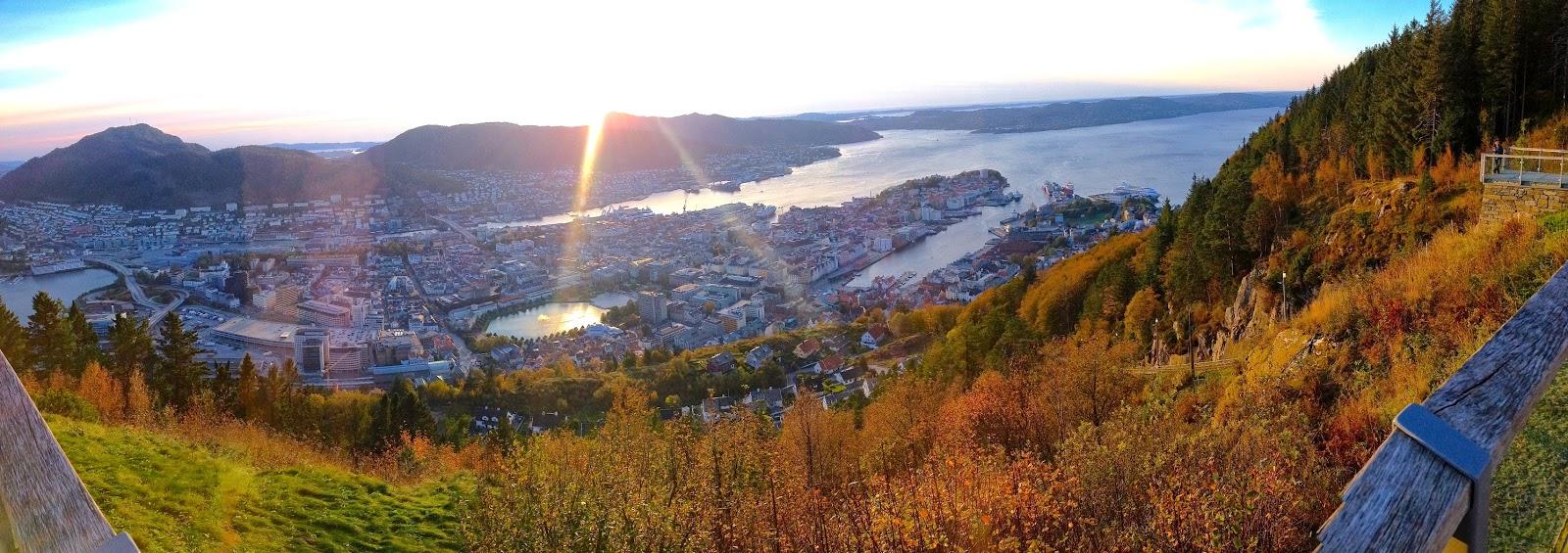 panorama view of Bergen, Norway