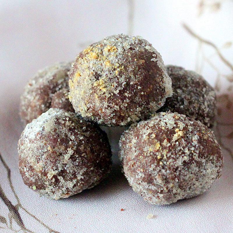 Gingerbread spiced Chocolate Nut butter truffles. Vegan ...