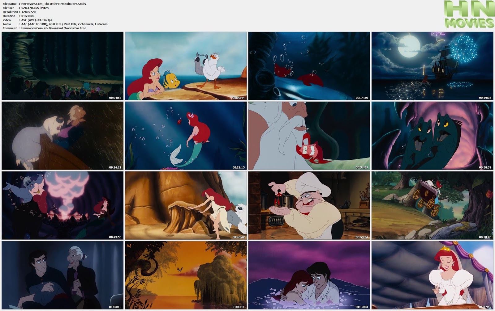 movie screenshot of The Little Mermaid fdmovie.com