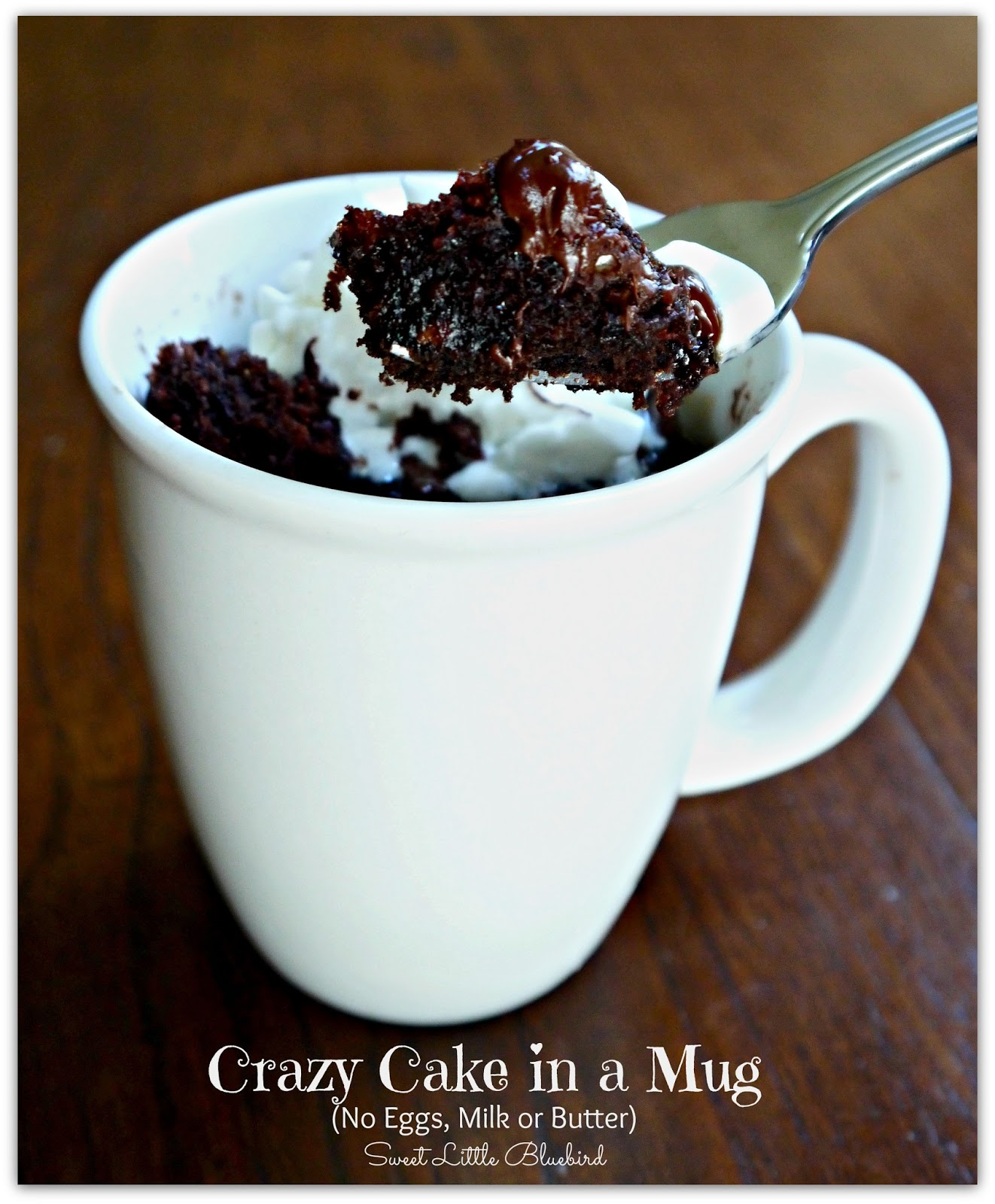 Crazy Cake In A Mug No Eggs Milk Or Er Ready Minutes