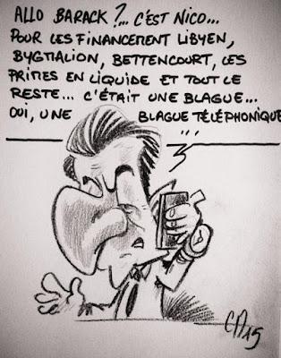 Caricature Sarkozy - Guillaume Néel ©