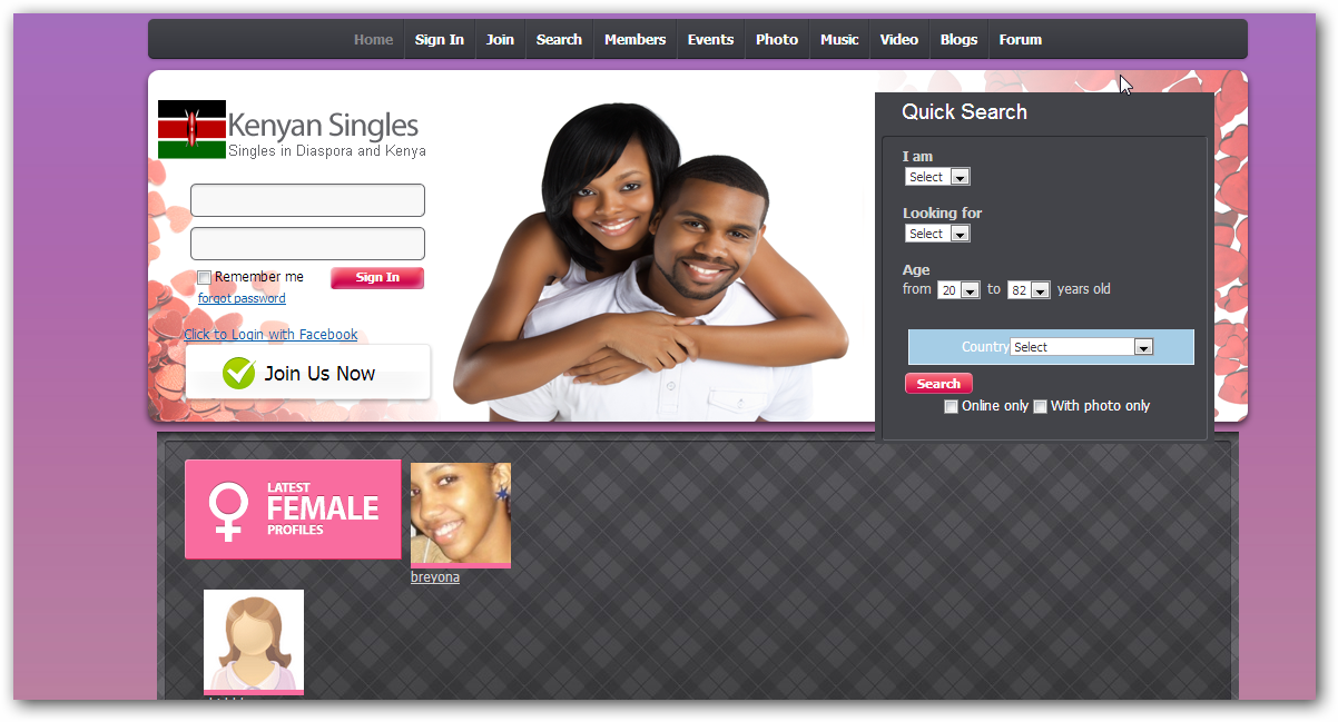 interracial dating sites kenya Matchcom, the leading online dating resource for singles search through thousands of personals and photos go ahead, it's free to look.