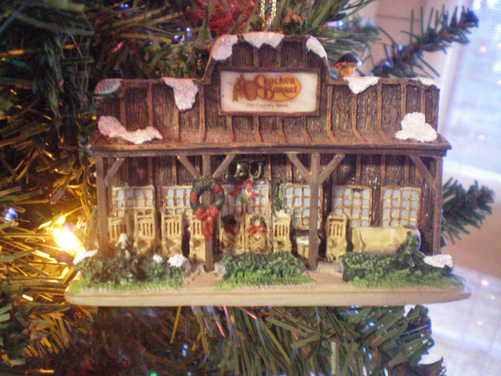 if you live in the south you need a cracker barrel ornament for your tree it is a must have lol