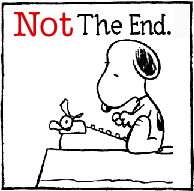 Snoopy typing Not the end