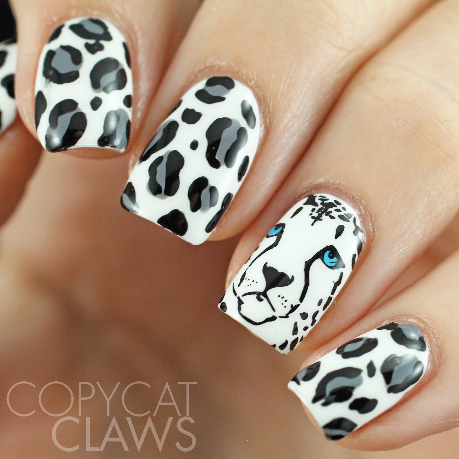Diy Snow Leopard Nail Art: Copycat Claws: 40 Great Nail Art Ideas