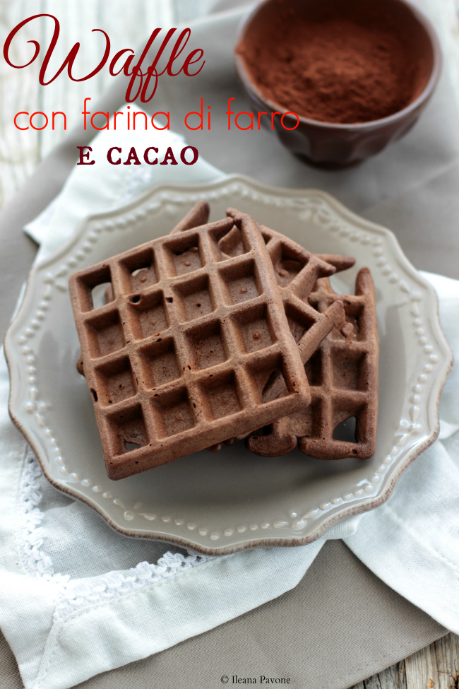 waffle con farina di farro e cacao