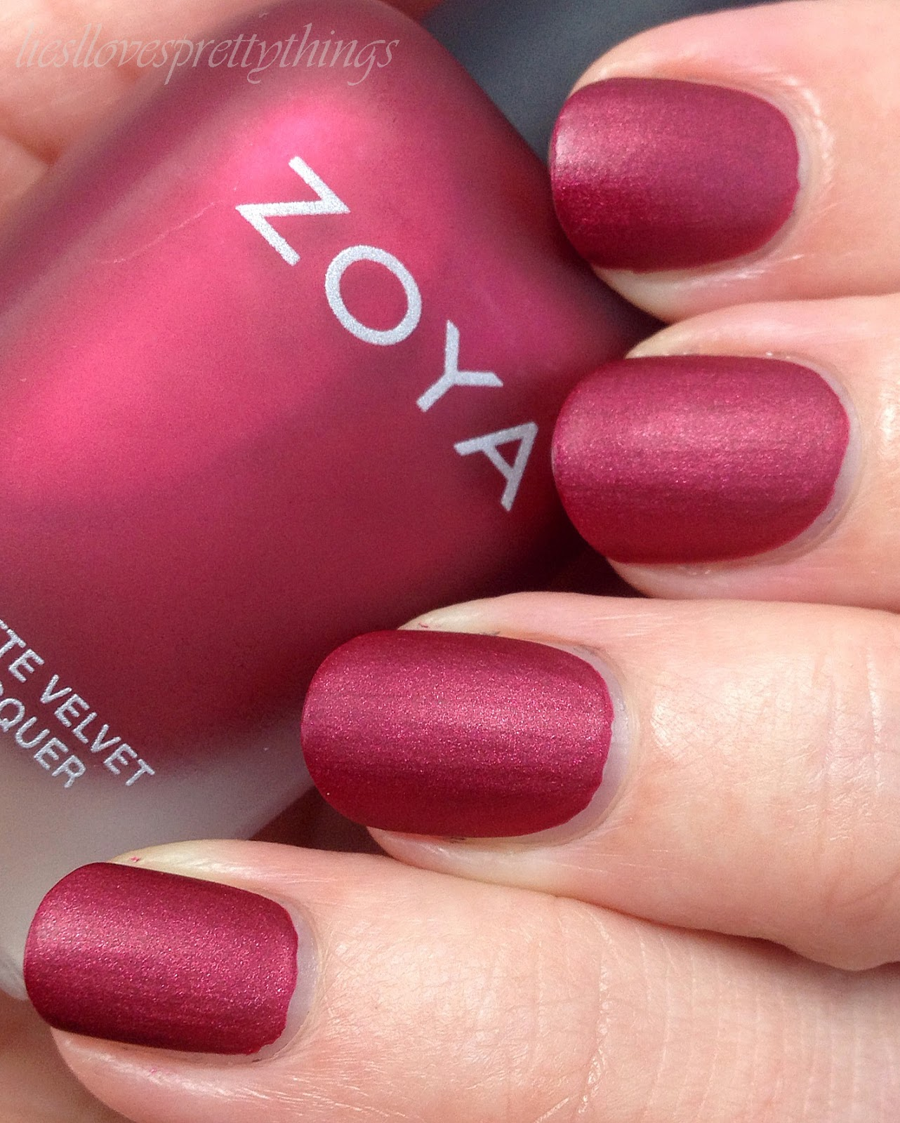 Zoya Posh-- Matte Velvet Collection swatch and review