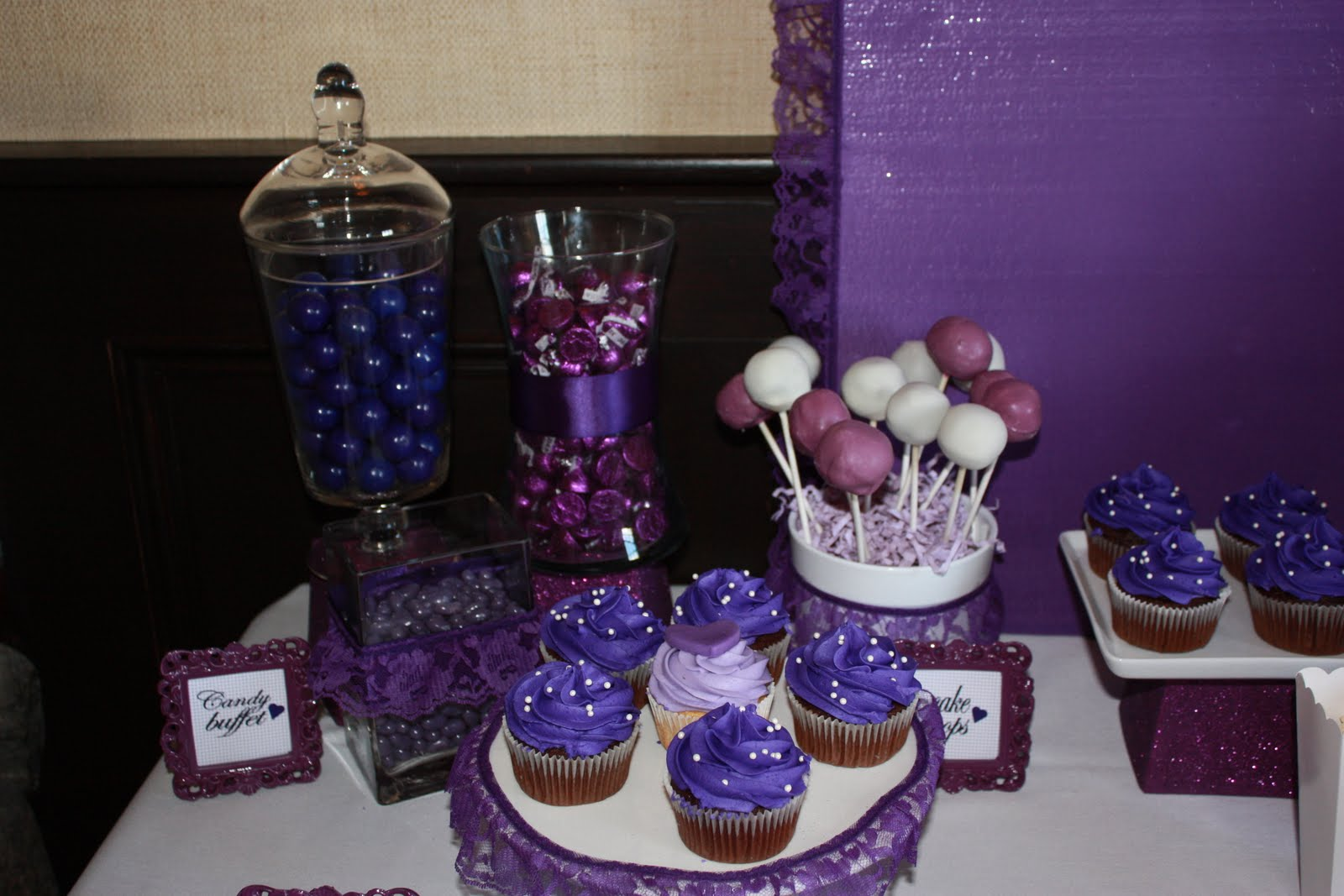 Blue And Purple Wedding Cake Pops & Becuo