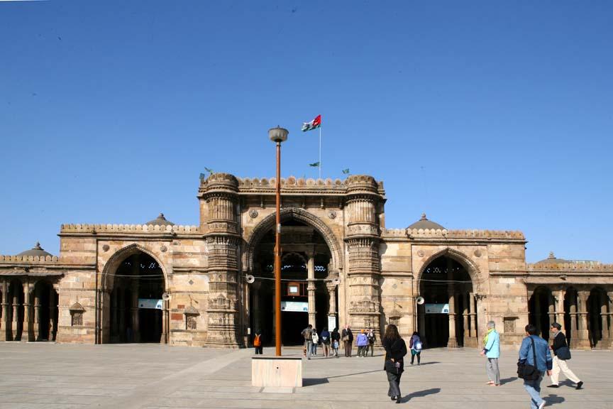 Masjid Jama Ahmedabad, Perpaduan Seni Islam dan Hindu