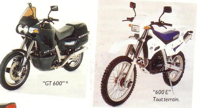 Barigo GT 600 and 600 E motorcycle prototypes