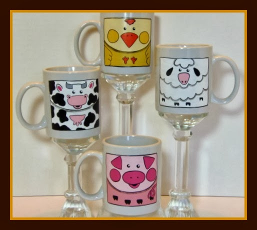 Barnyard Animals Coffee Mugs