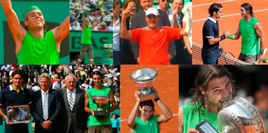 Roger Federer, Rafa Nadal, Roland Garros