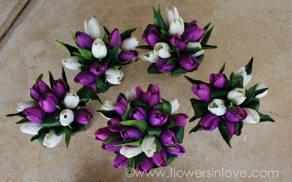 Purple And White Tulip Bouquet Of purple and white tulipsPurple And White Tulip Bouquet