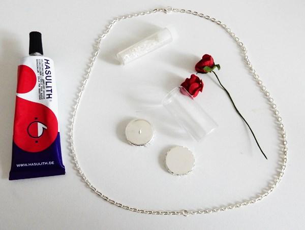 DIY : La rose de la belle et la bête en pendentif