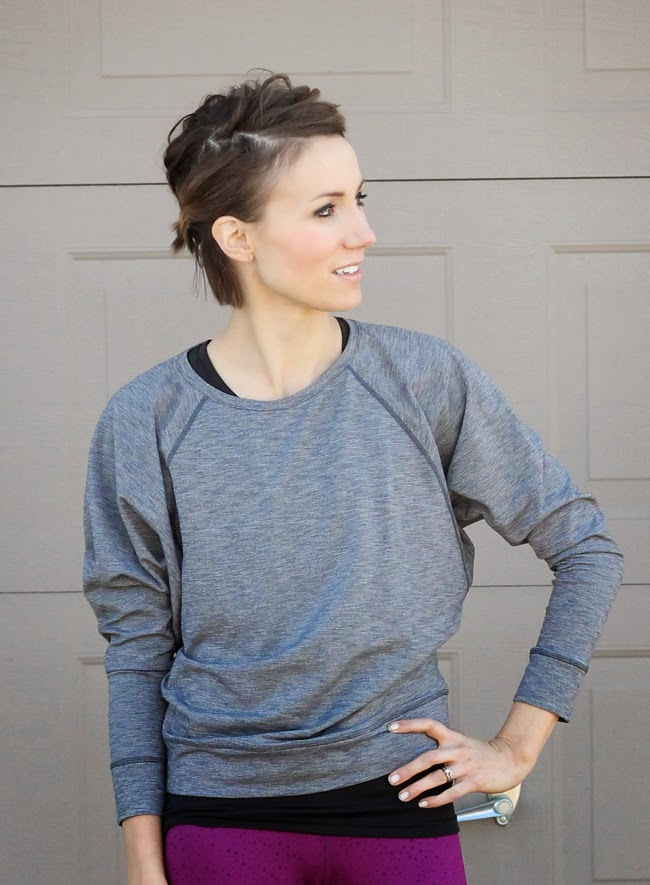 Cozy Orange gray yoga top and radiant orchid pants