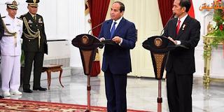 كلمة الرئيس عبد الفتاح السيسى خلال المؤتمر الصحفى مع رئيس جمهورية إندونيسيا