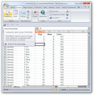 Pivot Tabel Di Excel 2007