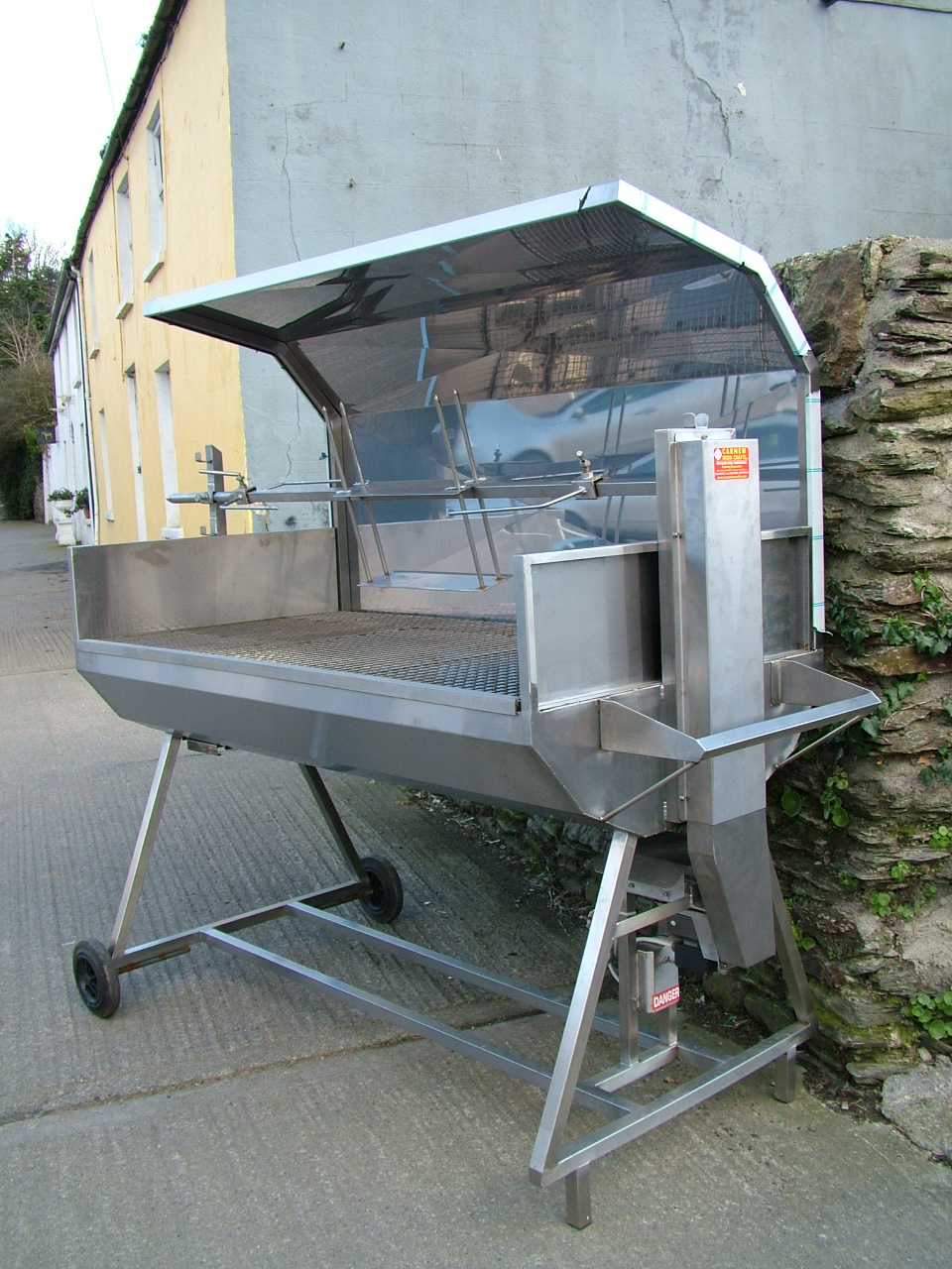 Carnew Iron Crafts Combined Spit Roast Barbecue