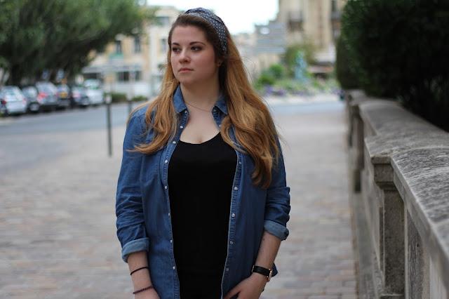 chemise jean pull and bear tenue rentrée des classes