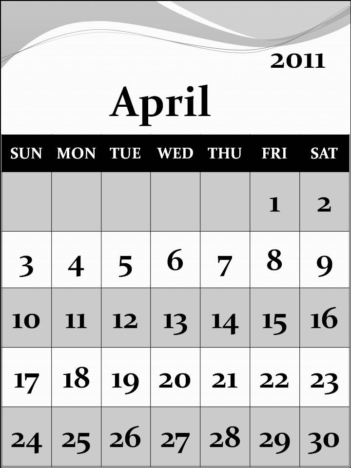 Calendar April 2011 : Reixun free april calendar wallpaper
