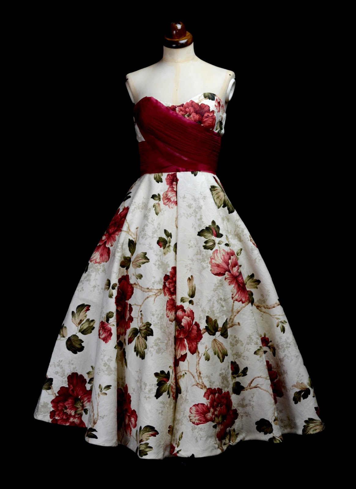 Grace 1950s Floral Tea Gown by Alexandra King