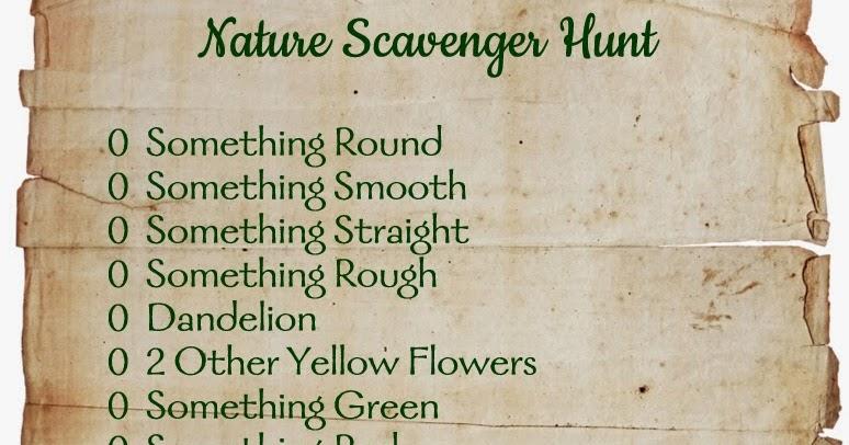 diy nature scavenger hunt practiganic vegetarian recipes and organic living. Black Bedroom Furniture Sets. Home Design Ideas