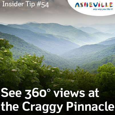 Asheville Insider Tip: Find 360 Degree Views Atop Craggy Pinnacle.