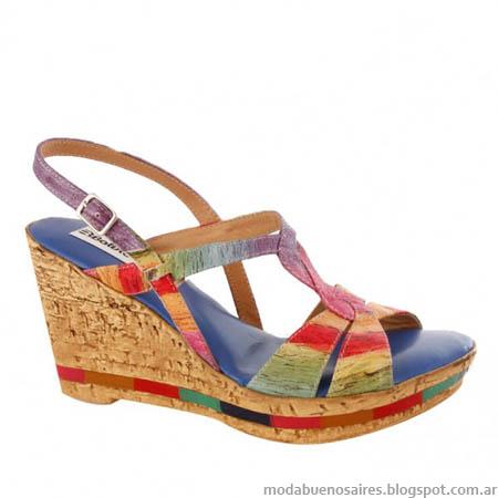 Sandalias moda mujer verano 2014.