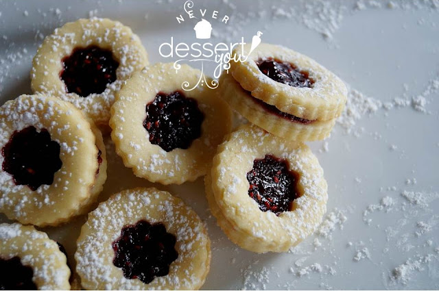 Never Dessert You Raspberry Sugar Cookies